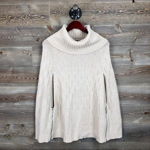 Market and Spruce Knit Poncho/Cape